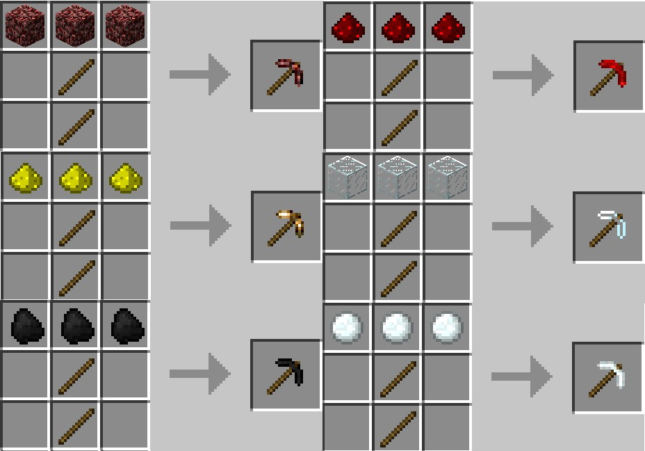 http://img.niceminecraft.net/Mods/More-Pickaxes-Mod-2.jpg