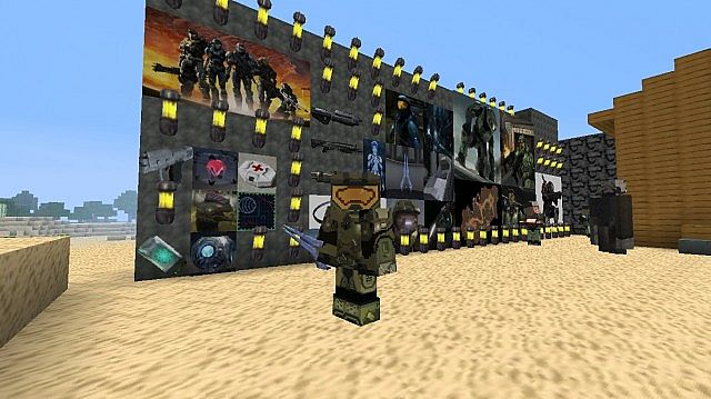 Halo Minecraft Resource Pack Minecraft - Skins para minecraft pe halo