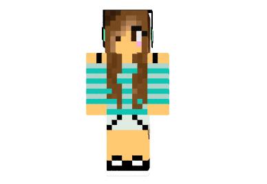 Girl With Headphones Skin - Minecraft 1.12.2